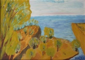 The landscape with a stone, 2005 Oil on canvas, 50 х 70